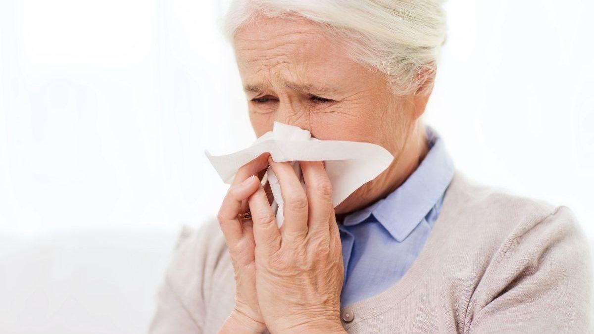 opieka seniora przeziębienie